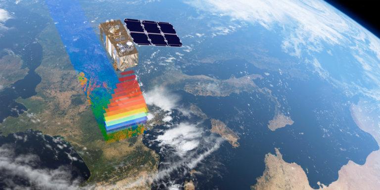 El satélite Sentinel sobre la Tierra